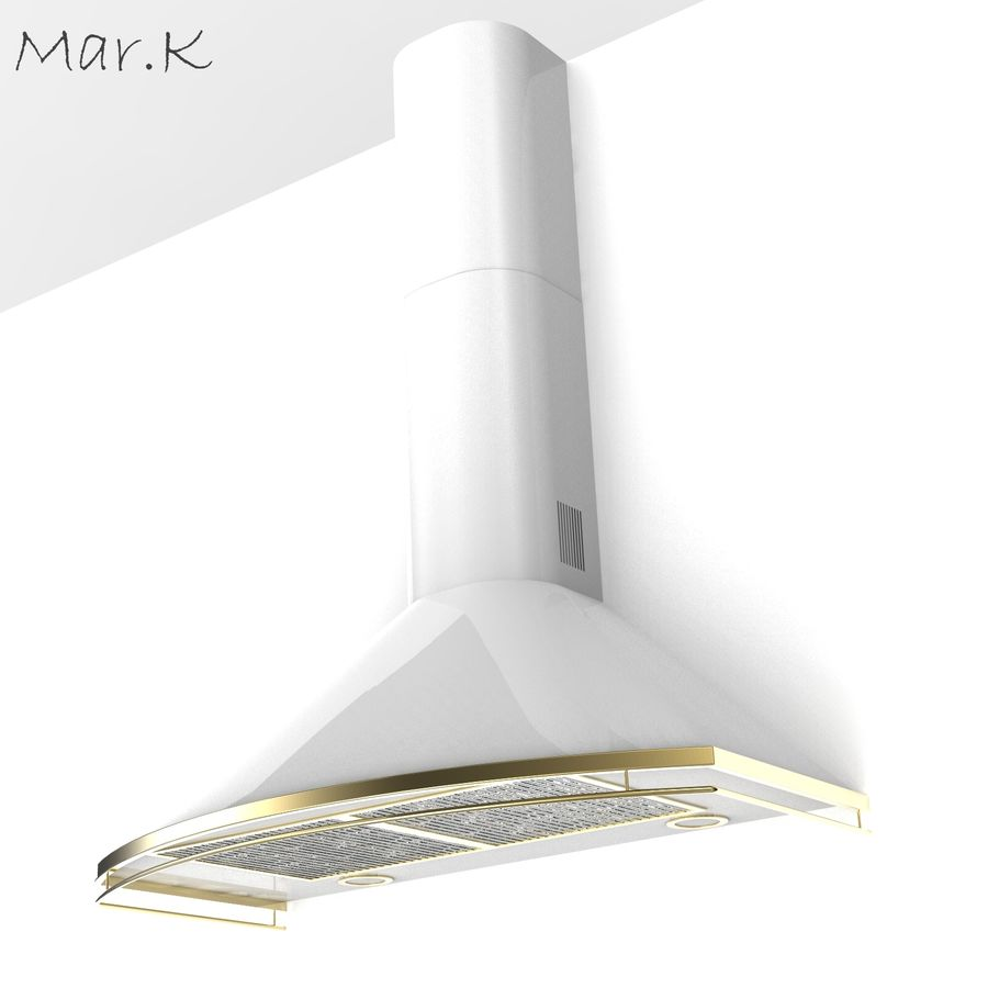 Kitchen hood Cata royalty-free 3d model - Preview no. 2
