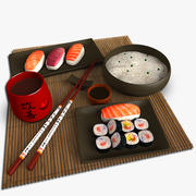 Zestaw do sushi 3d model