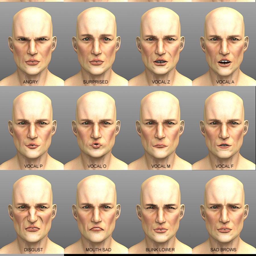 John royalty-free 3d model - Preview no. 4