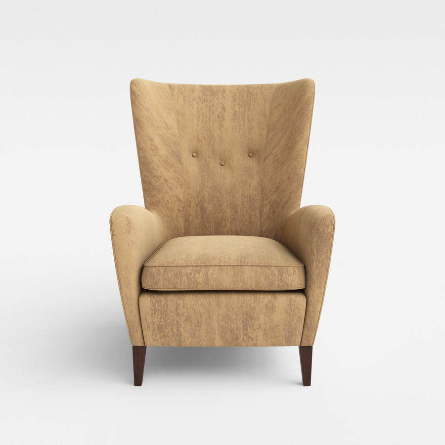 Morgan Furniture Seville 750 - Wing fauteuil royalty-free 3d model - Preview no. 3