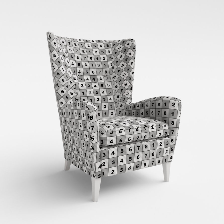 Morgan Furniture Seville 750 - Wing fauteuil royalty-free 3d model - Preview no. 5