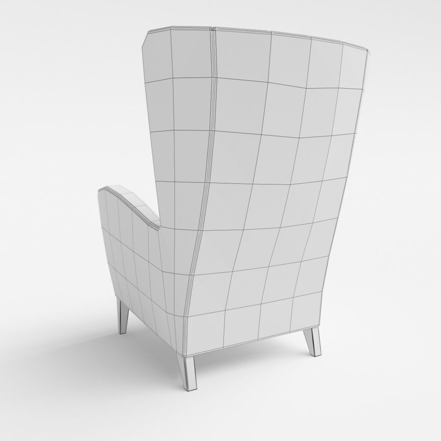 Morgan Furniture Seville 750 - Wing fauteuil royalty-free 3d model - Preview no. 7