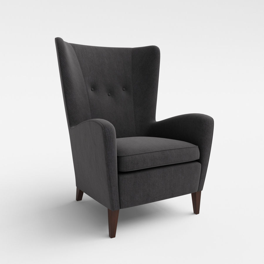 Morgan Furniture Seville 750 - Wing fauteuil royalty-free 3d model - Preview no. 2