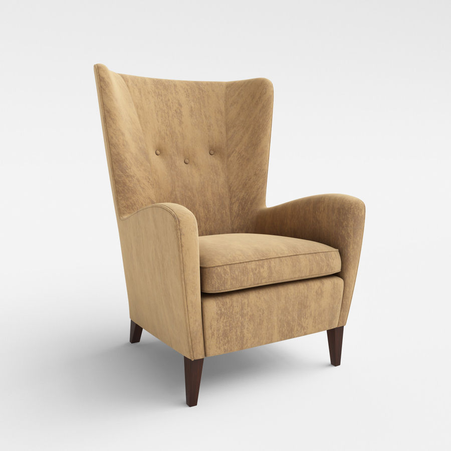 Morgan Furniture Seville 750 - Wing fauteuil royalty-free 3d model - Preview no. 1