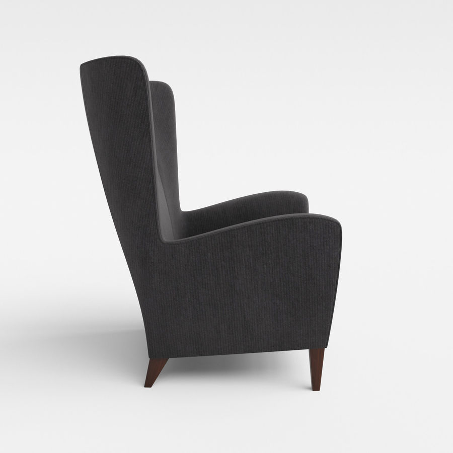 Morgan Furniture Seville 750 - Wing fauteuil royalty-free 3d model - Preview no. 4