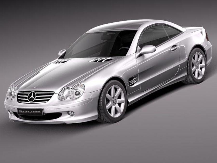 Mercedes-Benz SL 2003-2007 royalty-free 3d model - Preview no. 1