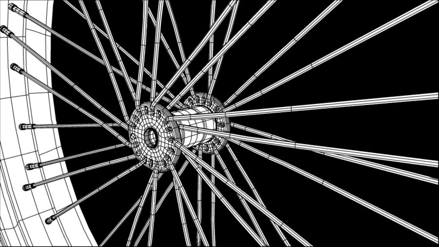 Bike/Motorcycle Wheel royalty-free 3d model - Preview no. 4