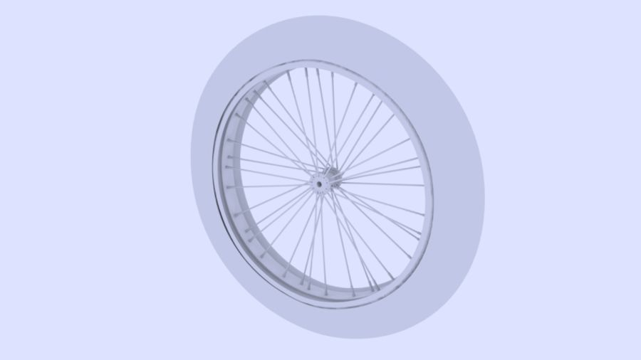 Bike/Motorcycle Wheel royalty-free 3d model - Preview no. 3
