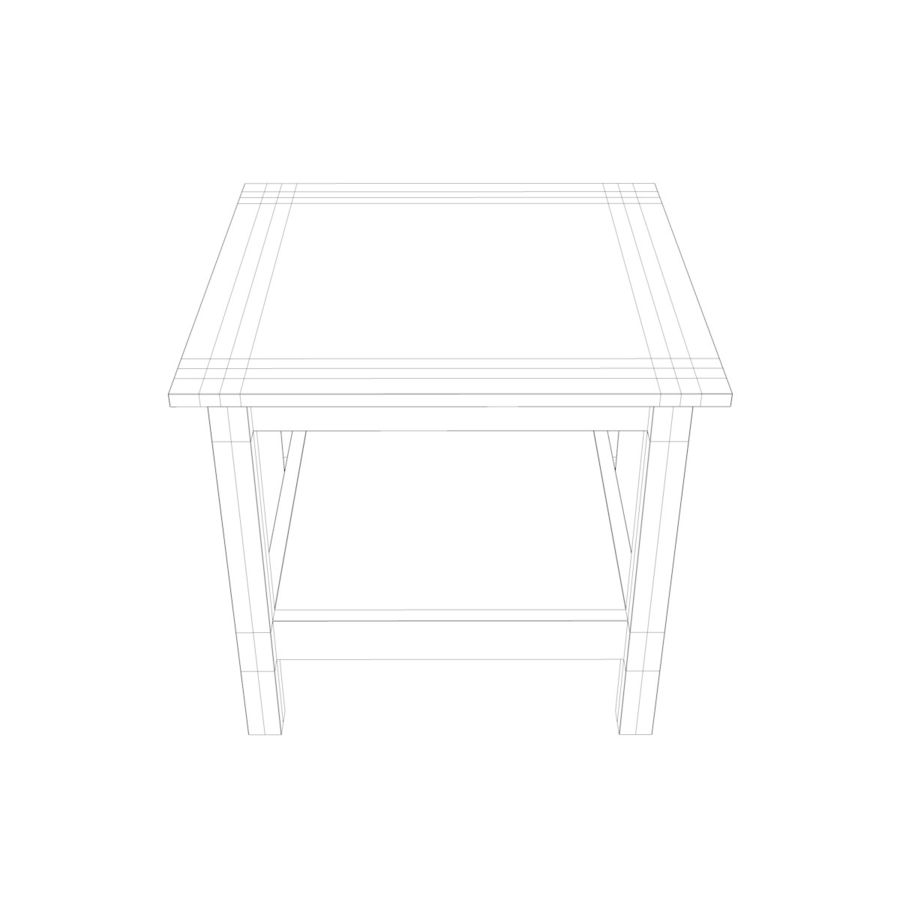 Stolik Ikea Hemnes royalty-free 3d model - Preview no. 5