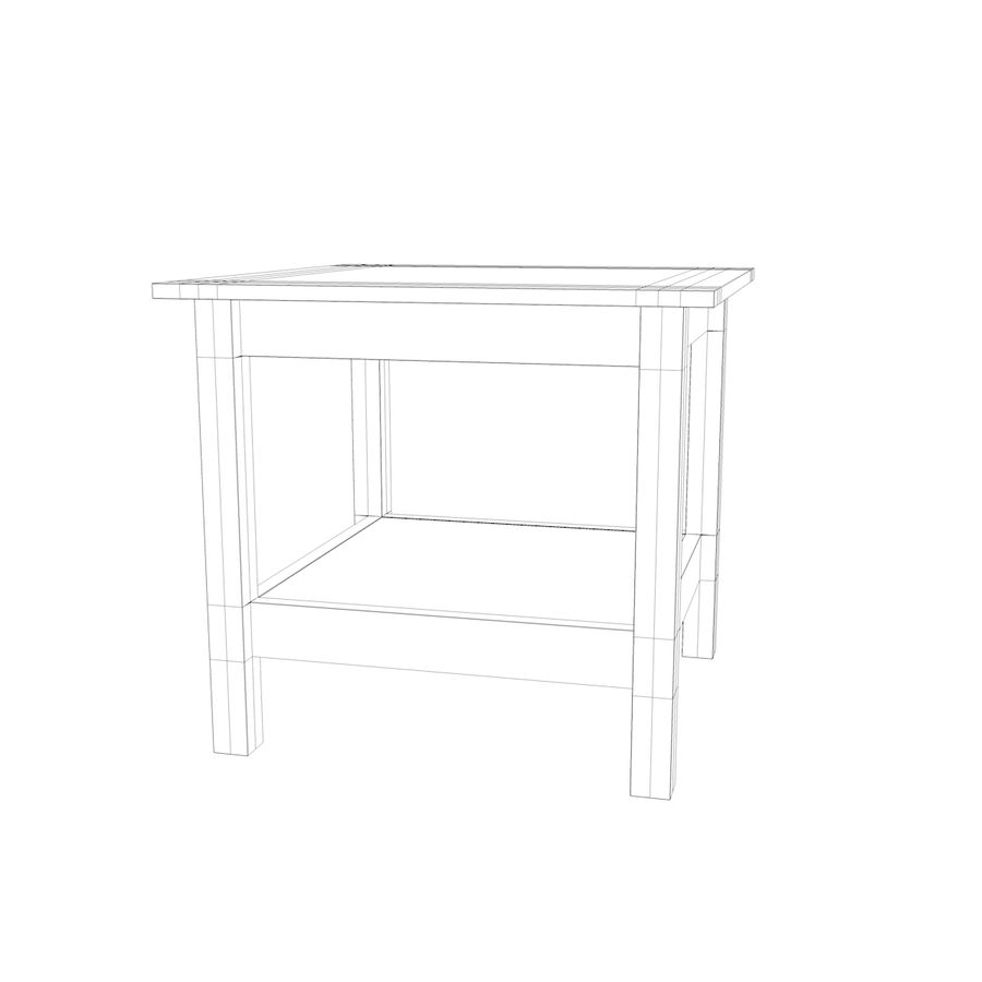 Stolik Ikea Hemnes royalty-free 3d model - Preview no. 6