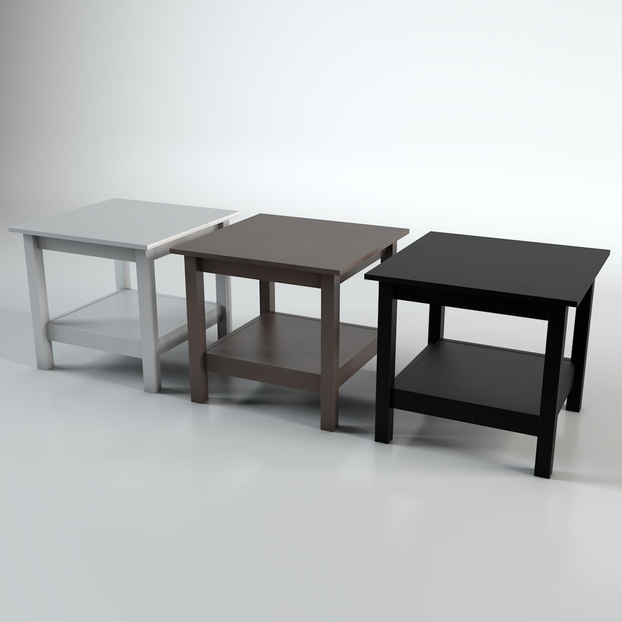 ikea hemnes side table 3d model 5 ma c4d fbx free3d. Black Bedroom Furniture Sets. Home Design Ideas