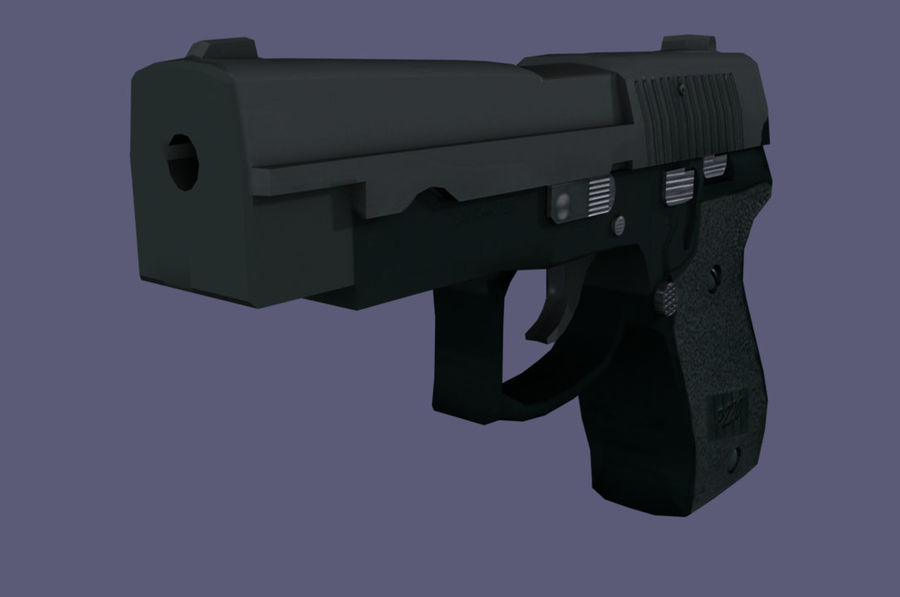 hand gun royalty-free 3d model - Preview no. 3