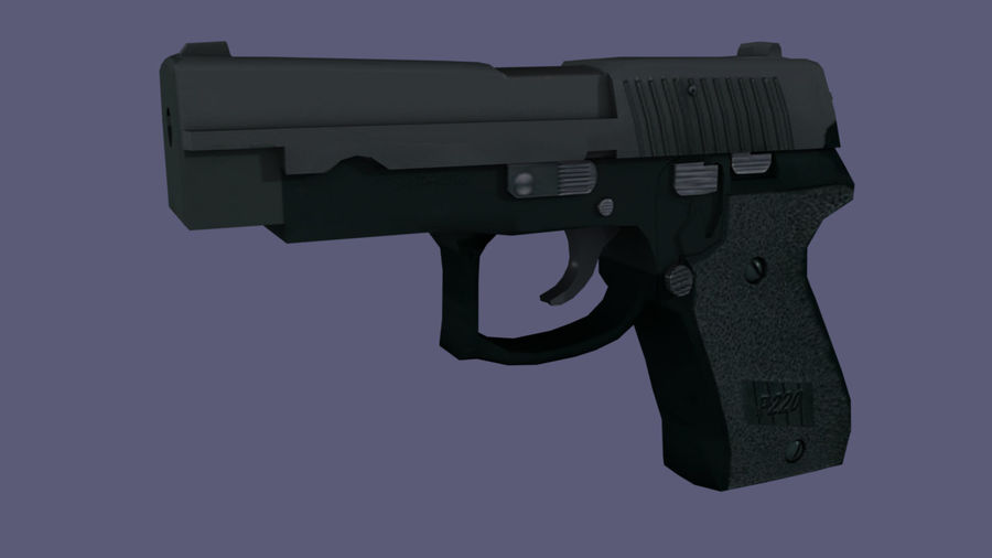 hand gun royalty-free 3d model - Preview no. 1