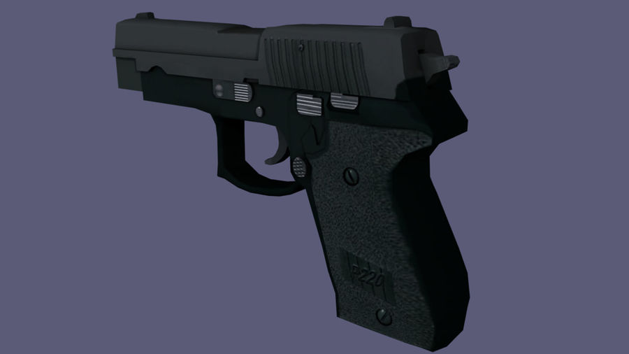 hand gun royalty-free 3d model - Preview no. 2