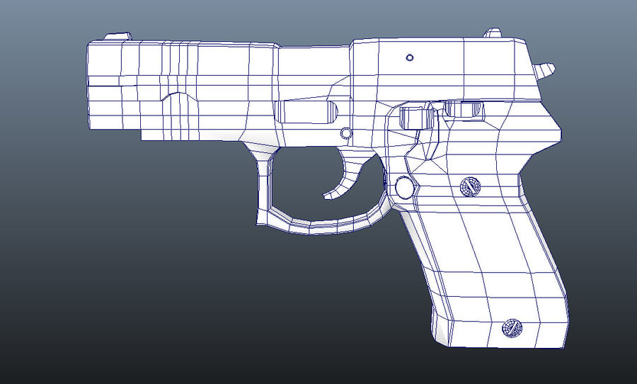 hand gun royalty-free 3d model - Preview no. 4