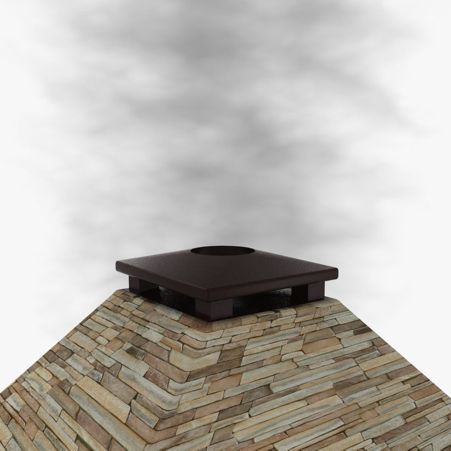 Animated Outdoor Fireplace royalty-free 3d model - Preview no. 6
