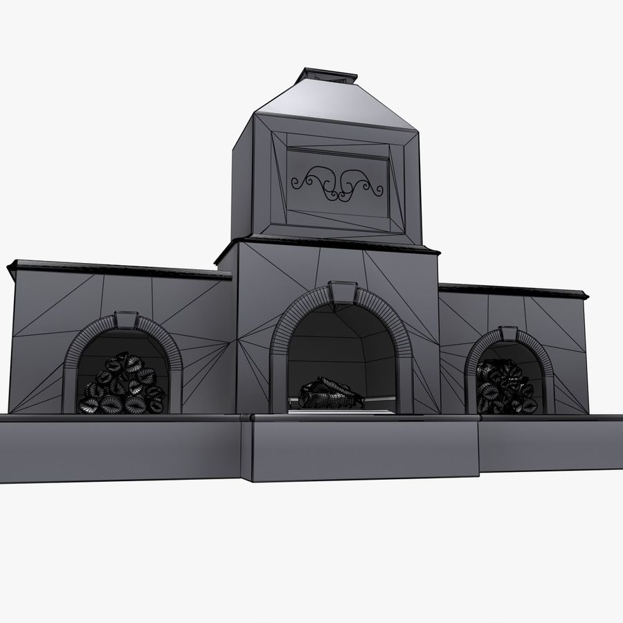 Animated Outdoor Fireplace royalty-free 3d model - Preview no. 14