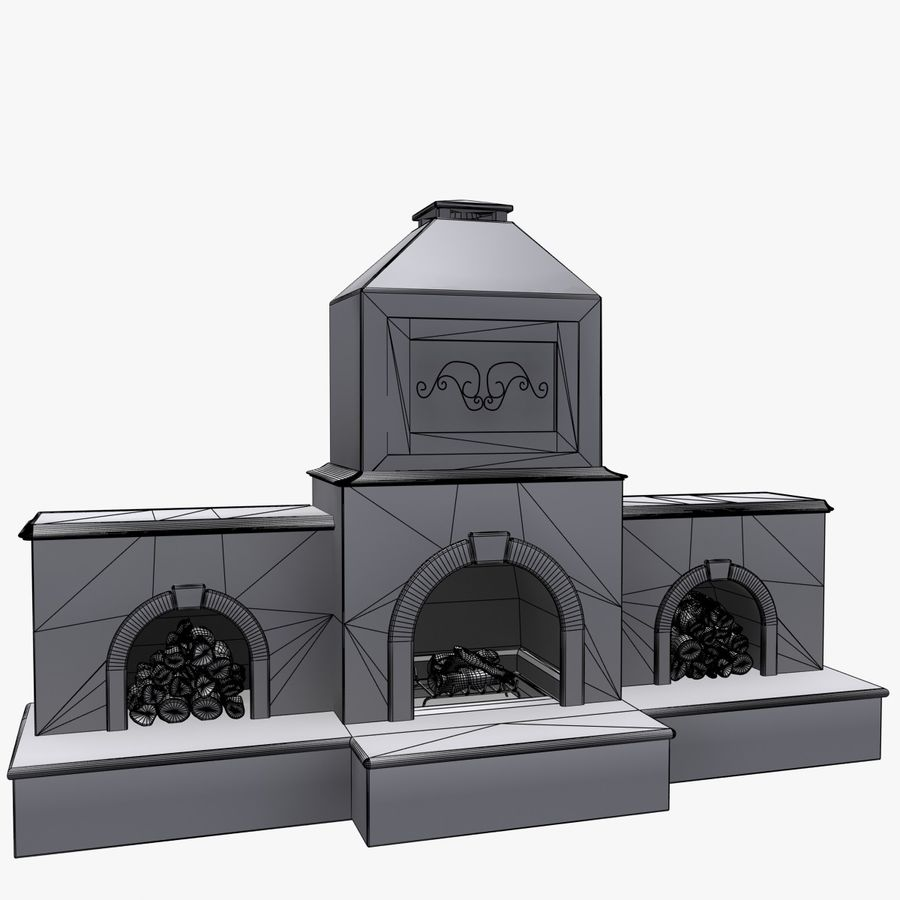 Animated Outdoor Fireplace royalty-free 3d model - Preview no. 8
