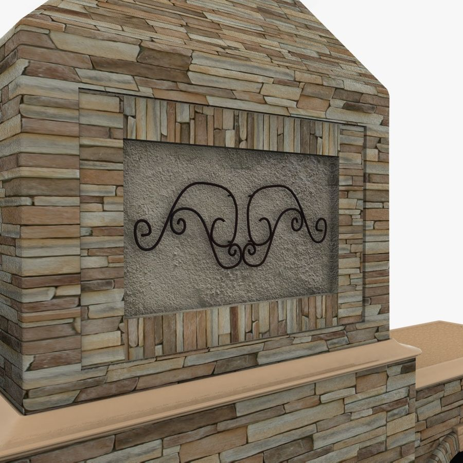 Animated Outdoor Fireplace royalty-free 3d model - Preview no. 4