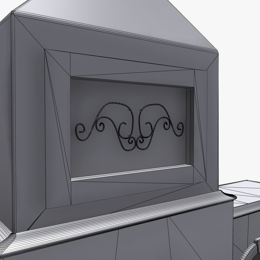 Animated Outdoor Fireplace royalty-free 3d model - Preview no. 11