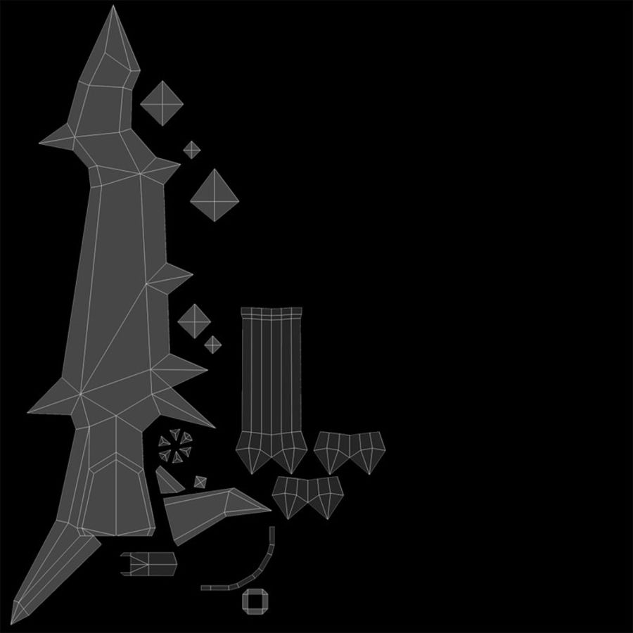 Fantasy Schwert royalty-free 3d model - Preview no. 6