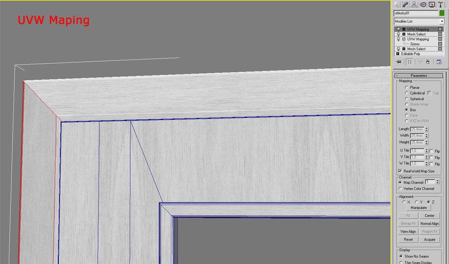 Door 04 royalty-free 3d model - Preview no. 3
