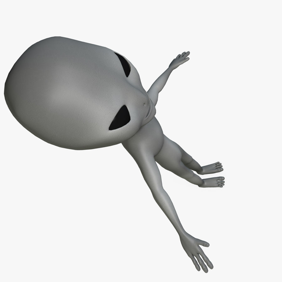 Low Poly Alien royalty-free 3d model - Preview no. 9