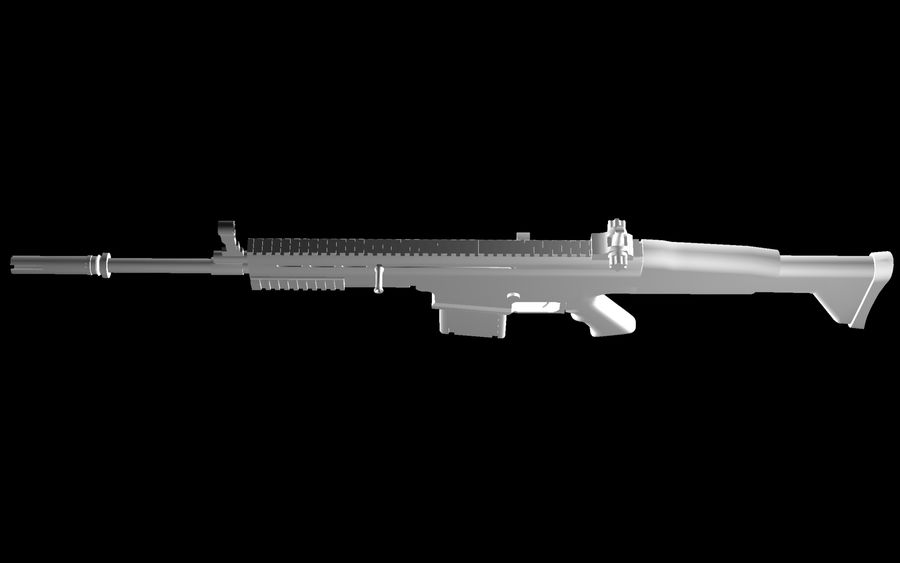 FN Scar Assault Rifle royalty-free 3d model - Preview no. 21