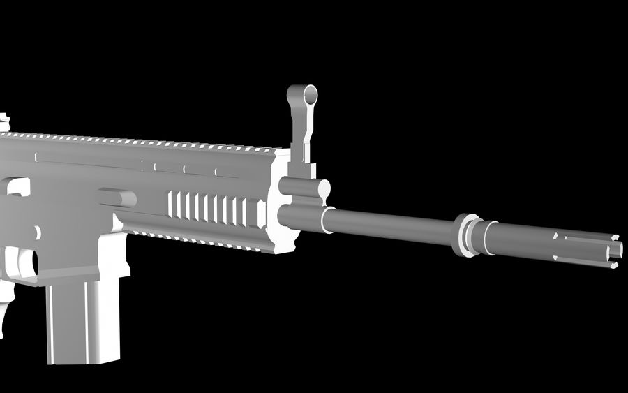 FN Scar Assault Rifle royalty-free 3d model - Preview no. 8