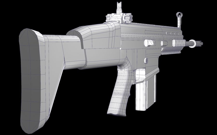 FN Scar Assault Rifle royalty-free 3d model - Preview no. 20