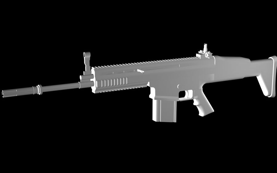 FN Scar Assault Rifle royalty-free 3d model - Preview no. 1