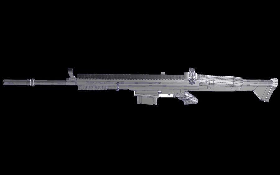 FN Scar Assault Rifle royalty-free 3d model - Preview no. 23