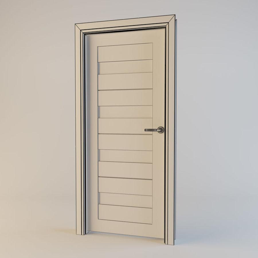 Door(03) royalty-free 3d model - Preview no. 2