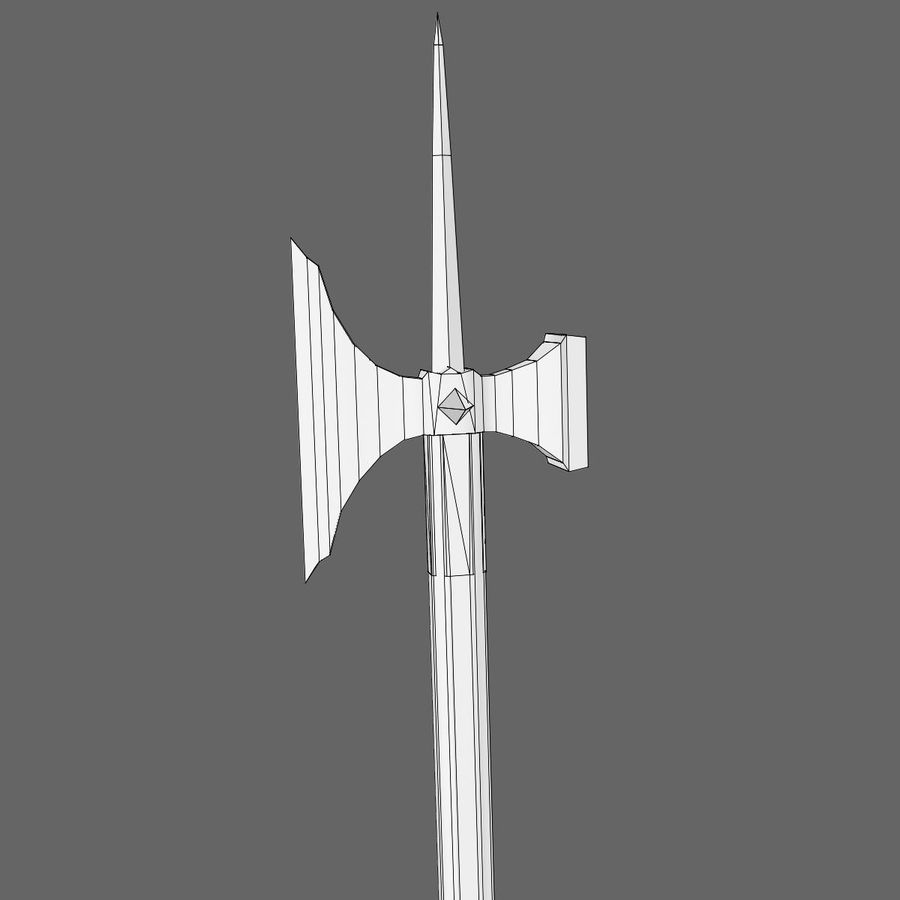 Long_Axe royalty-free 3d model - Preview no. 6