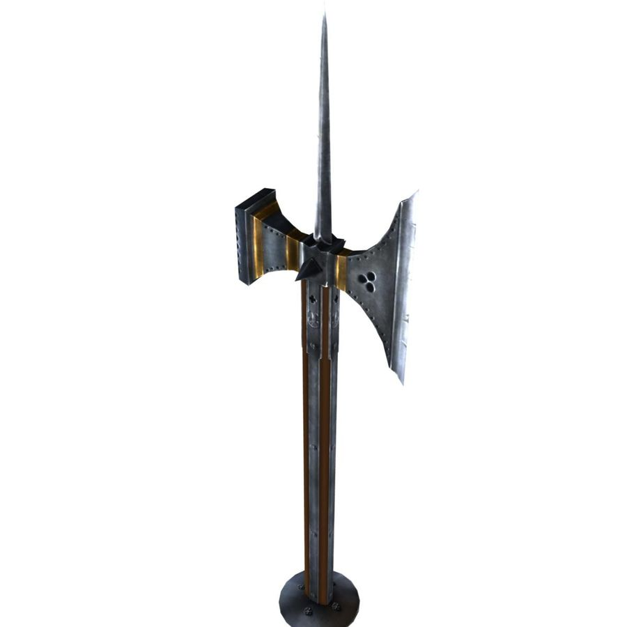 Long_Axe royalty-free 3d model - Preview no. 1