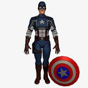 Toon Captain America 3d model