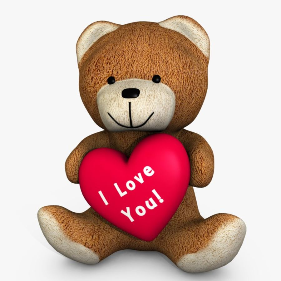 Bear Holding a Heart royalty-free 3d model - Preview no. 1