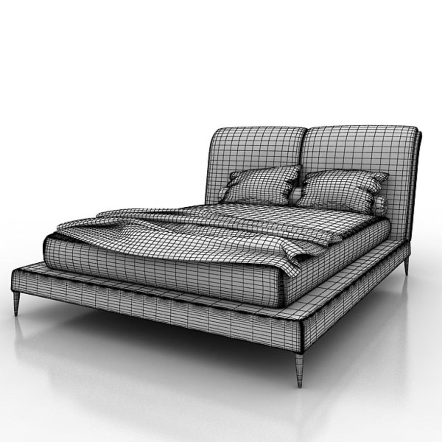 Angelo Cappellini Bed 42300/19アイリス royalty-free 3d model - Preview no. 9