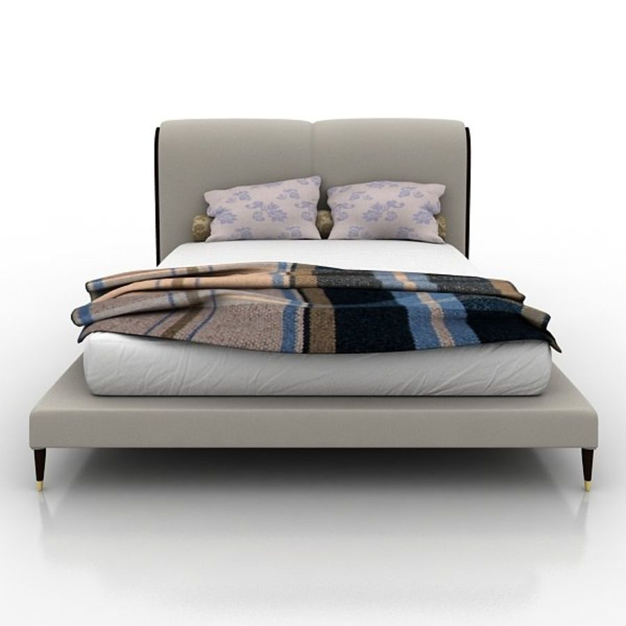 Angelo Cappellini Bed 42300/19アイリス royalty-free 3d model - Preview no. 2
