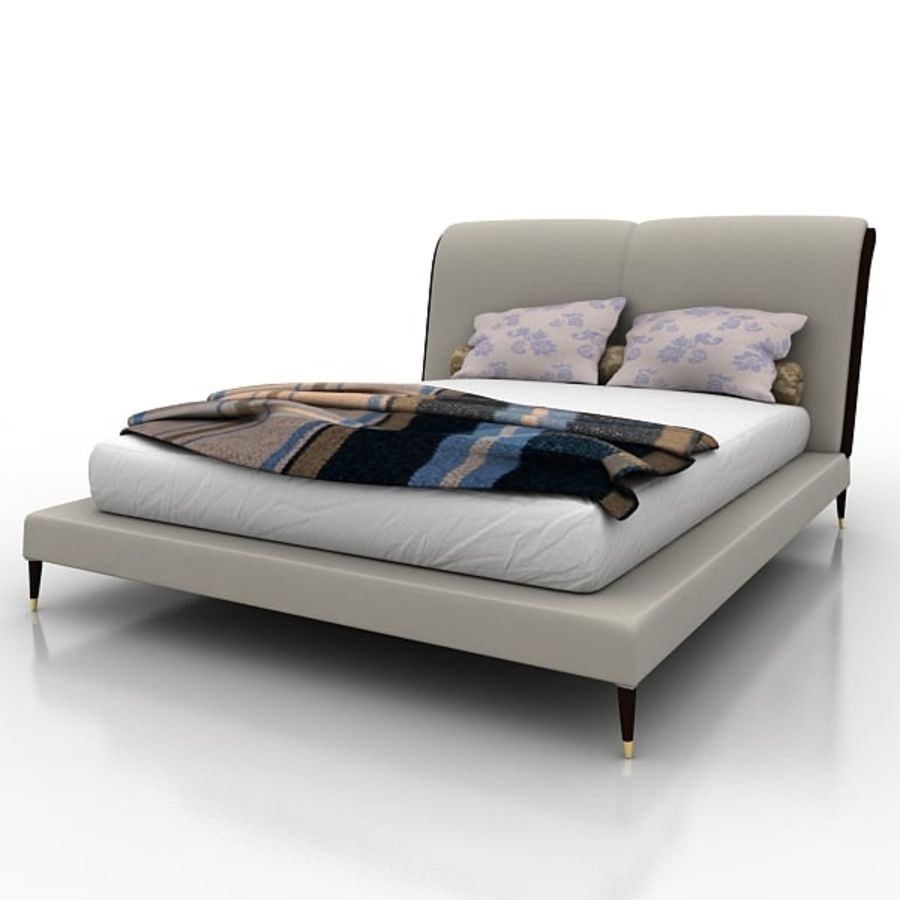 Angelo Cappellini Bed 42300/19アイリス royalty-free 3d model - Preview no. 1