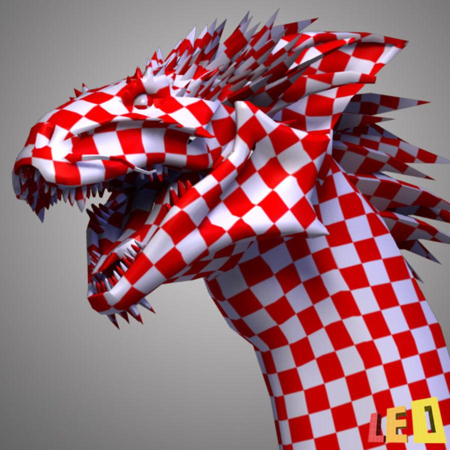 Dragon Head royalty-free 3d model - Preview no. 10