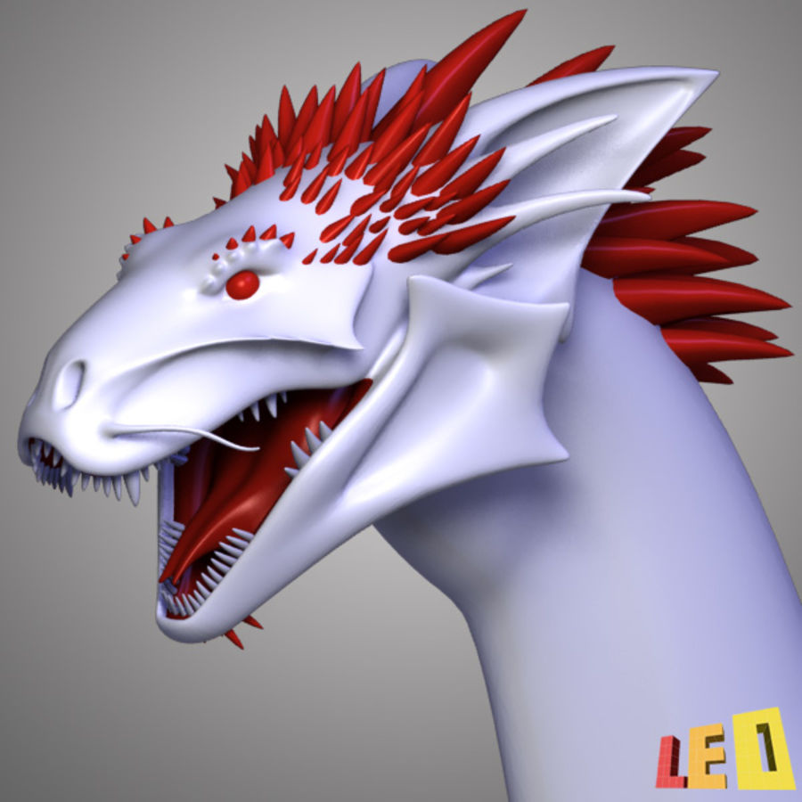 Dragon Head royalty-free 3d model - Preview no. 2
