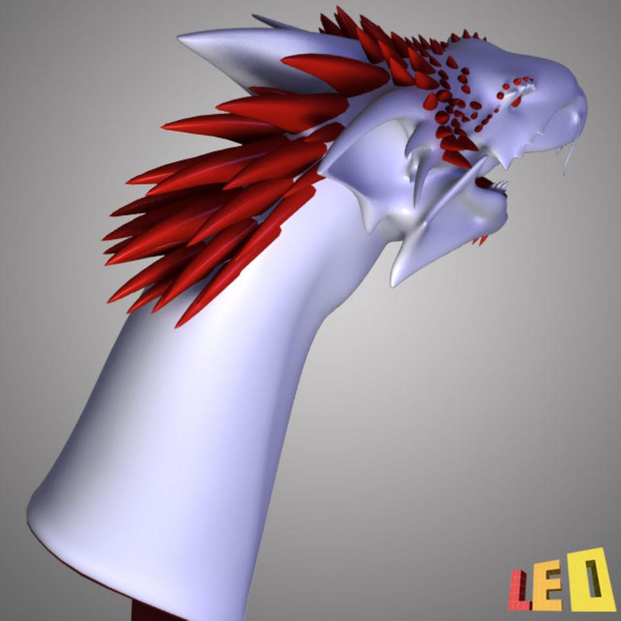 Dragon Head royalty-free 3d model - Preview no. 12