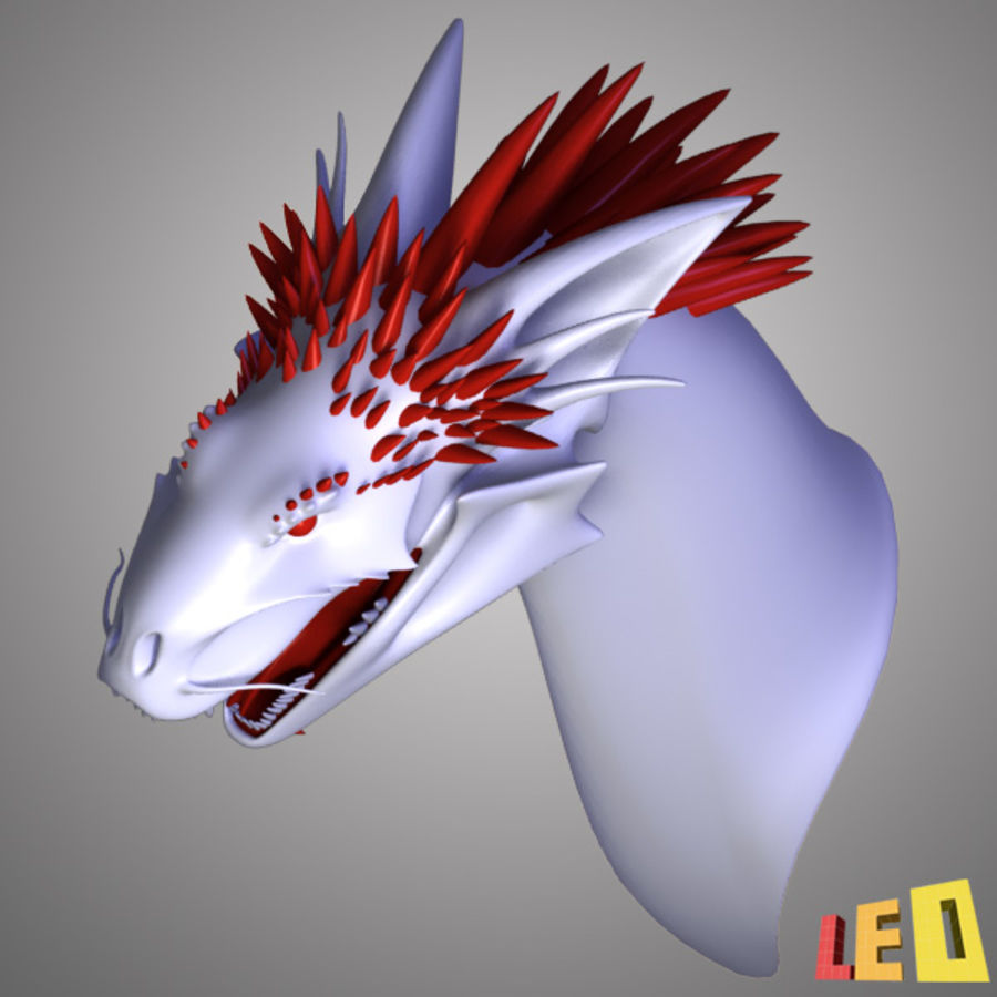 Dragon Head royalty-free 3d model - Preview no. 7