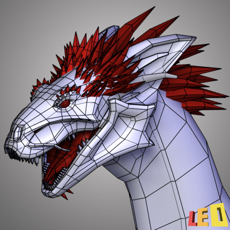 Dragon Head royalty-free 3d model - Preview no. 11