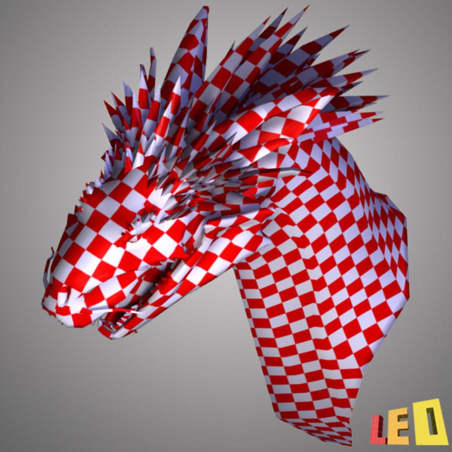 Dragon Head Royalty Free 3d Model