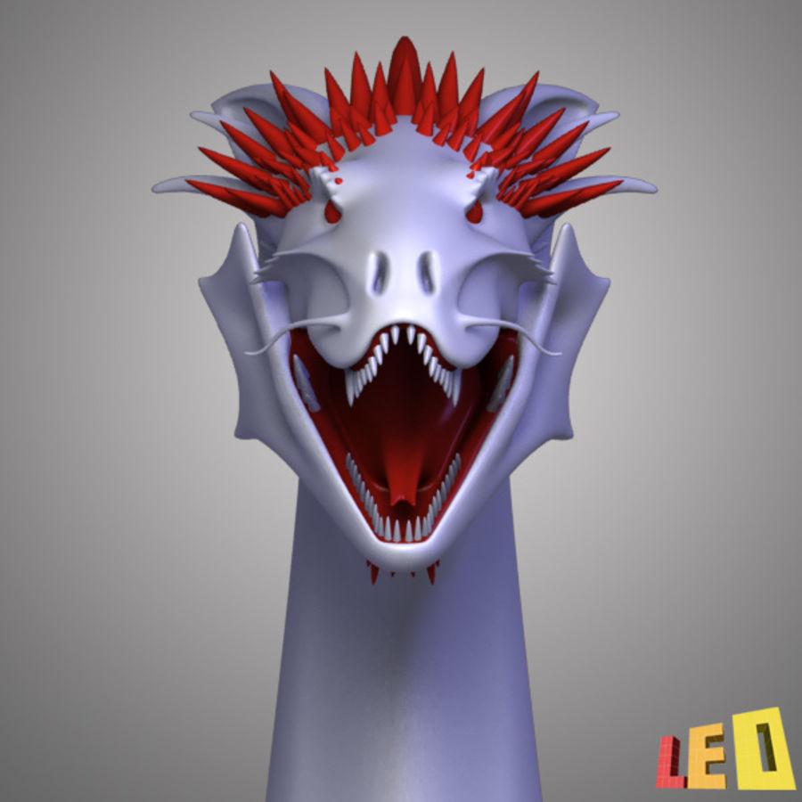 Dragon Head royalty-free 3d model - Preview no. 4