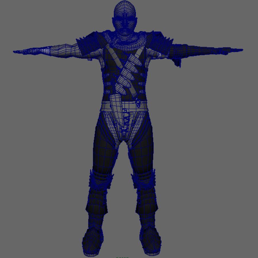 Berserk ( Guts ) royalty-free 3d model - Preview no. 8