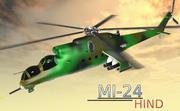 Hélicoptère MI24 Hind 3d model