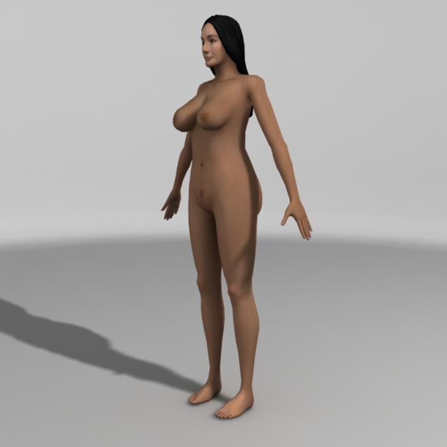 Asian Woman (rigged) royalty-free 3d model - Preview no. 6
